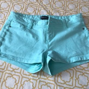 Mint green summer shorts